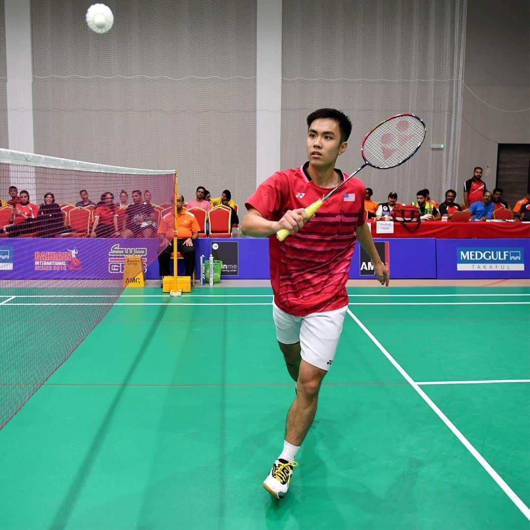 Timothy Lam playing badminton