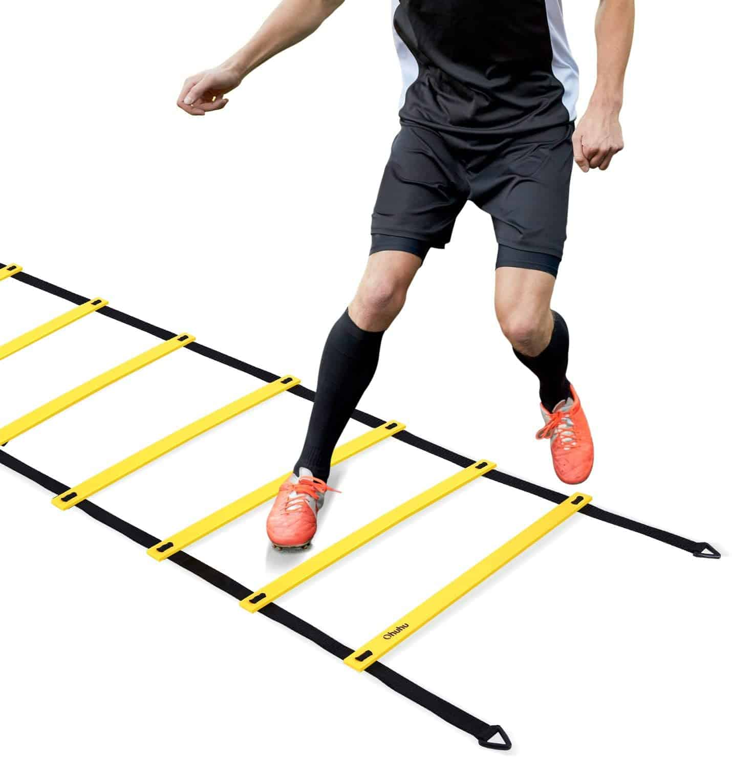 Person doing badminton agility circuit drill