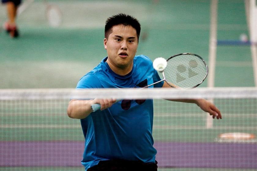 Phillip Chew playing badminton