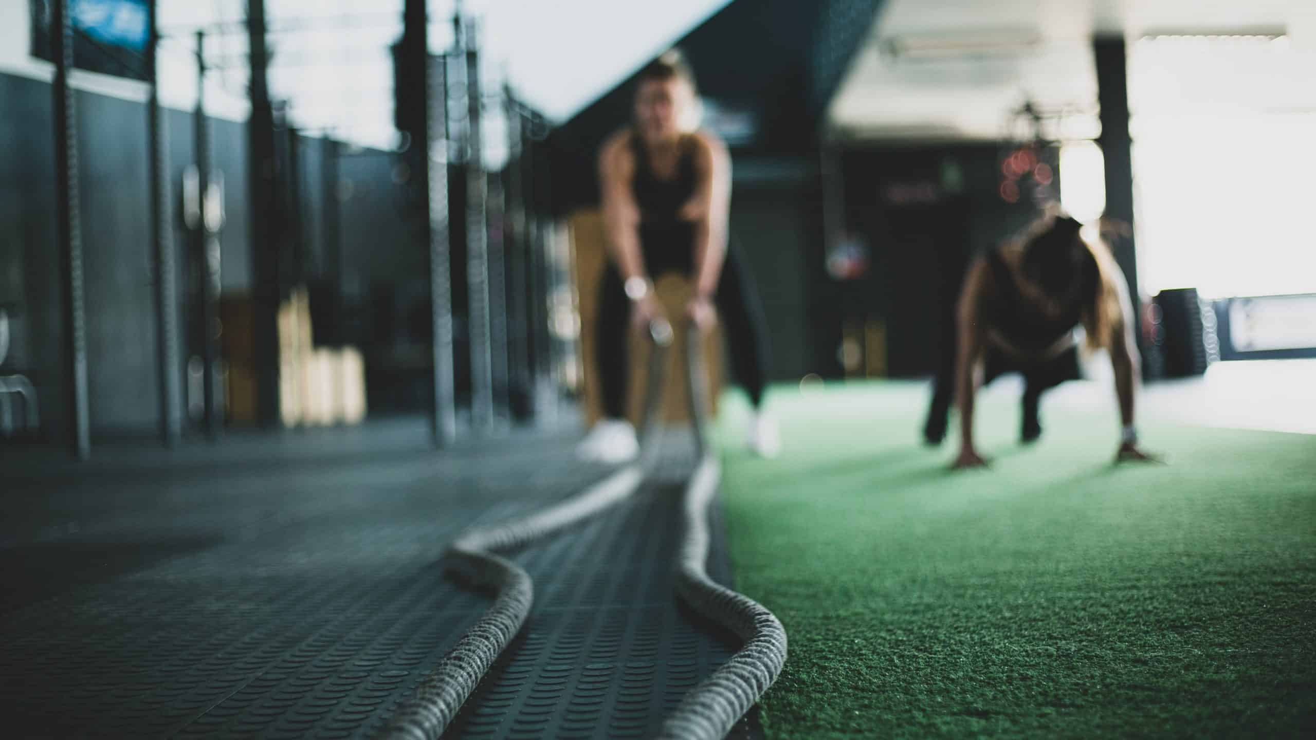 battle rope conditioning exercise